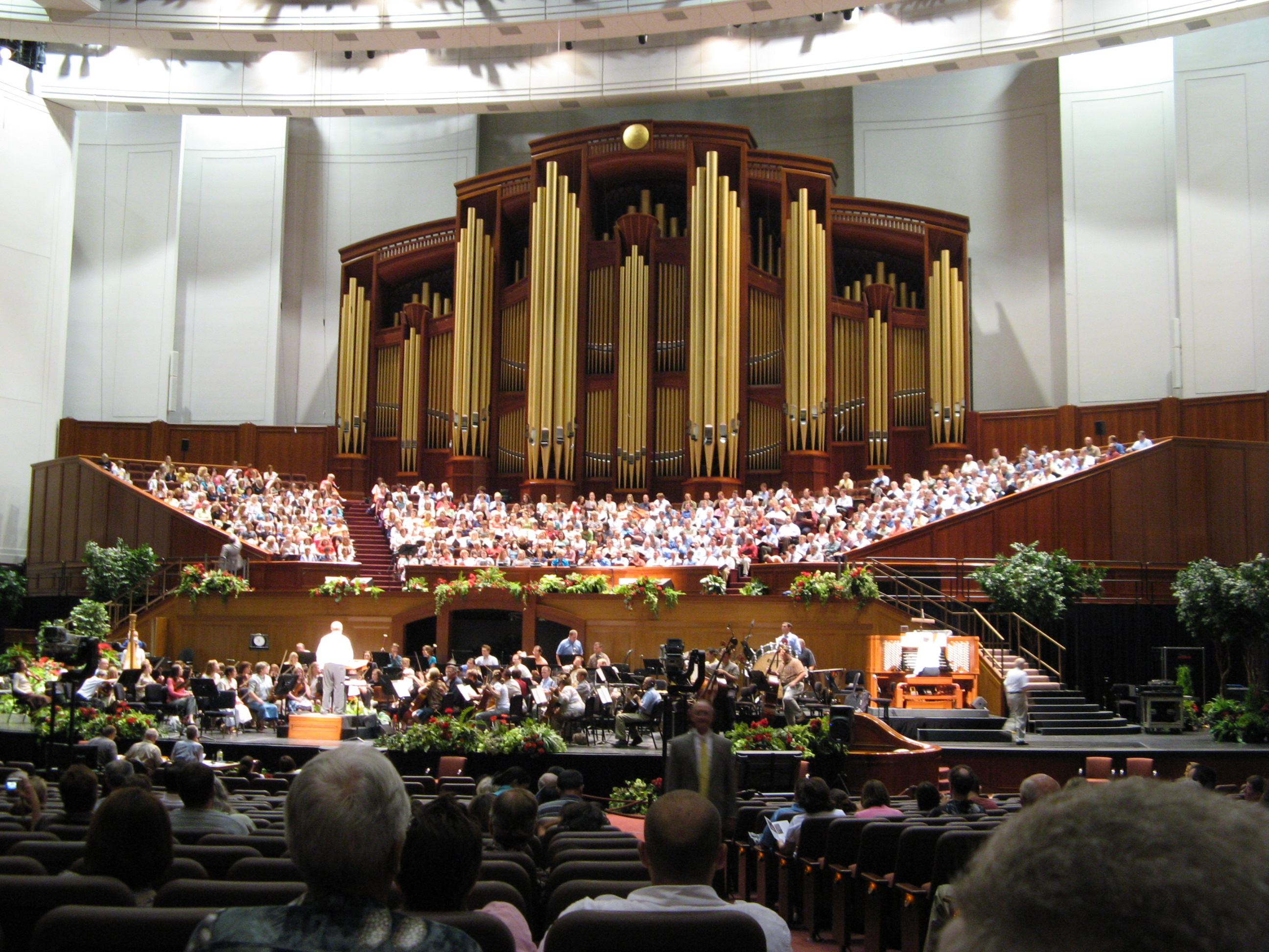 Temple Square, Salt Lake City - A Rehearsal At The Tabernacle