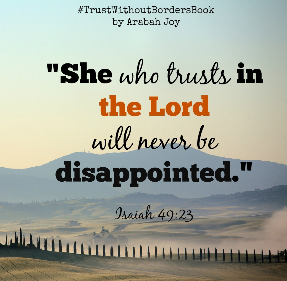 Don't Trust In Man. He Will Disappoint You.